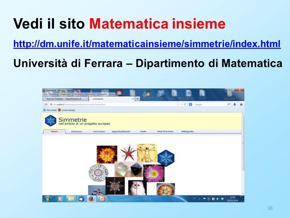 Vedi il sito Matematica insieme