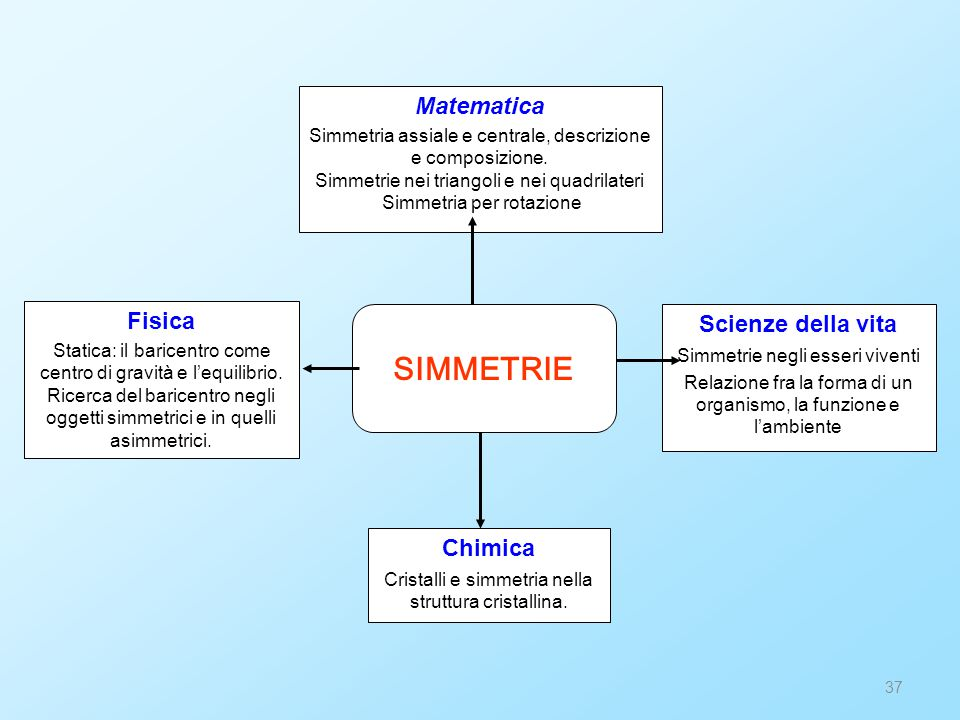 SIMMETRIE Matematica Fisica Scienze della vita Chimica