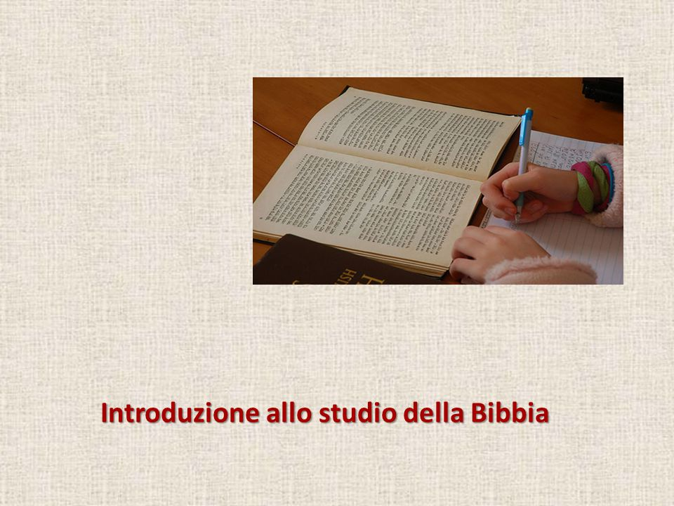 Introduzione allo studio della Bibbia