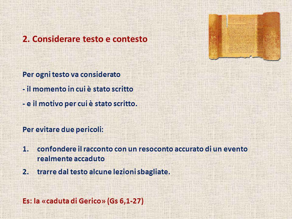 2. Considerare testo e contesto