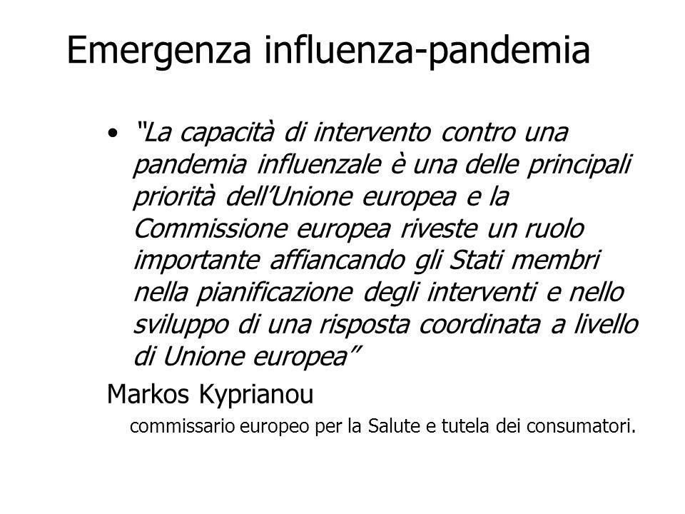 Emergenza influenza-pandemia