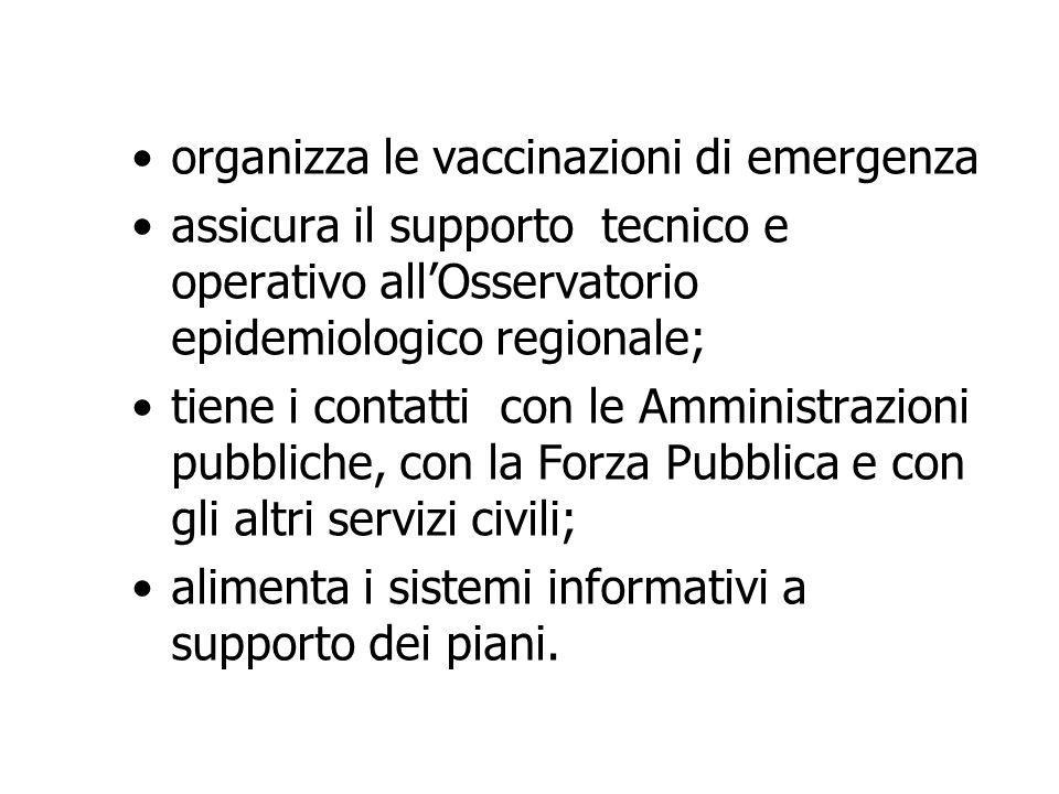 organizza le vaccinazioni di emergenza