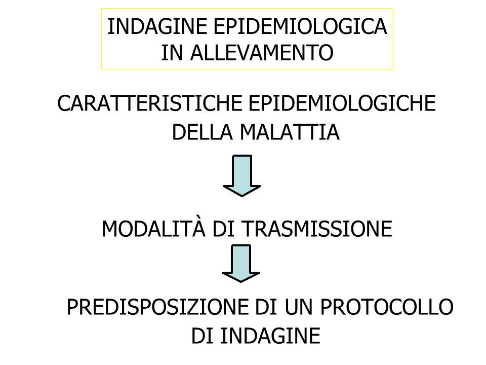 INDAGINE EPIDEMIOLOGICA IN ALLEVAMENTO