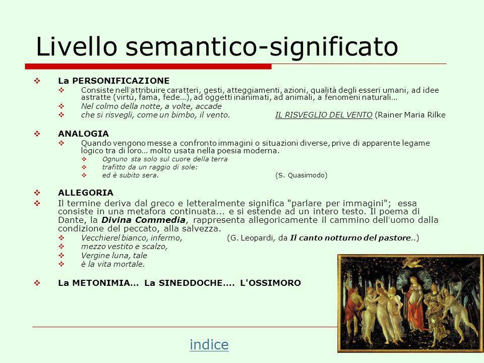 Livello semantico-significato