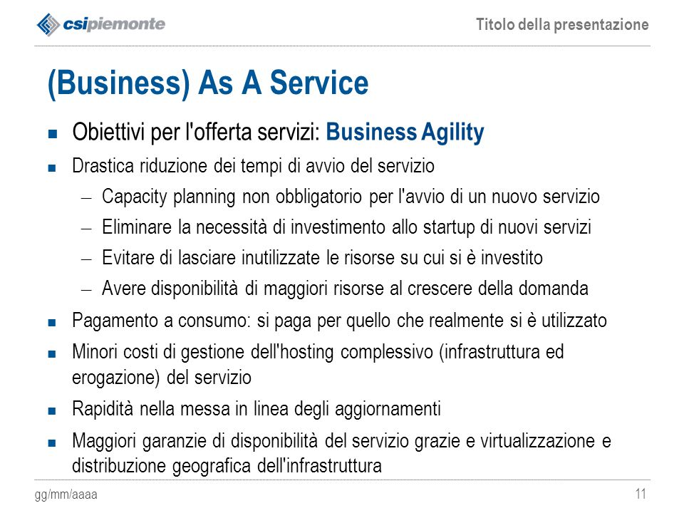 (Business) As A Service