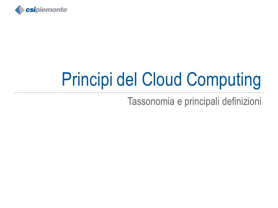 Principi del Cloud Computing