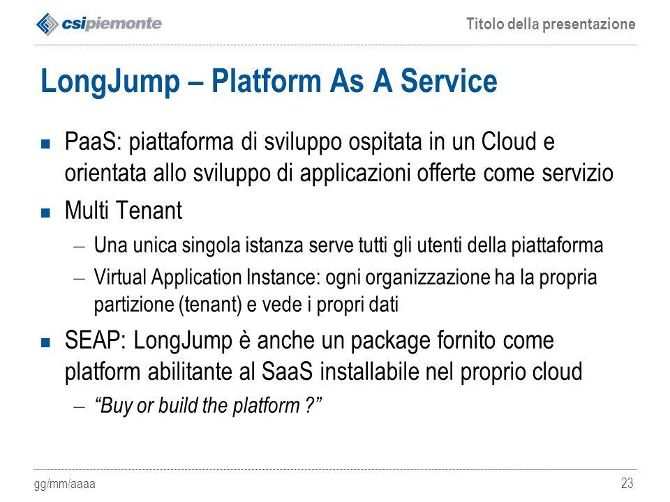LongJump – Platform As A Service