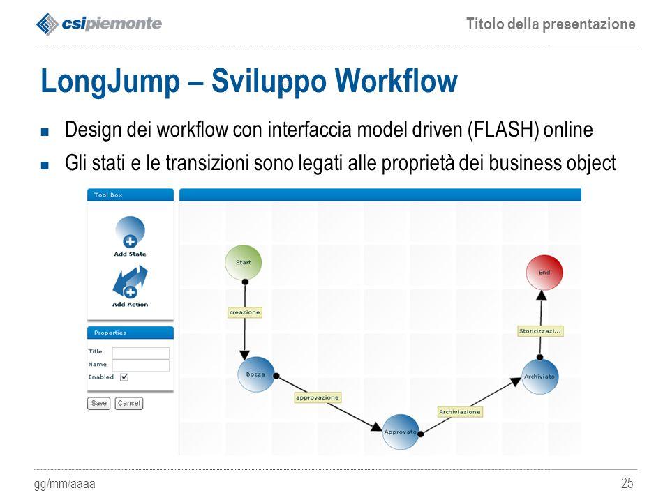 LongJump – Sviluppo Workflow