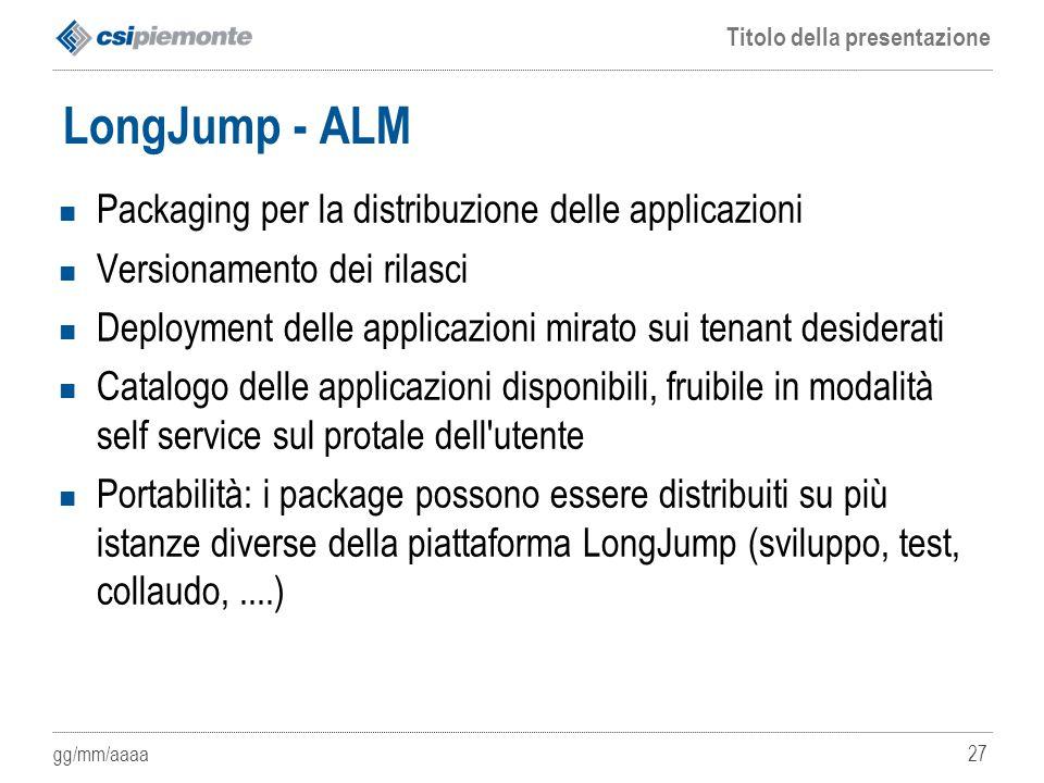 LongJump - ALM Packaging per la distribuzione delle applicazioni
