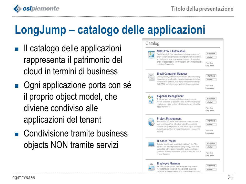 LongJump – catalogo delle applicazioni