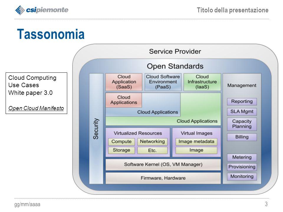 Tassonomia Cloud Computing Use Cases White paper 3.0