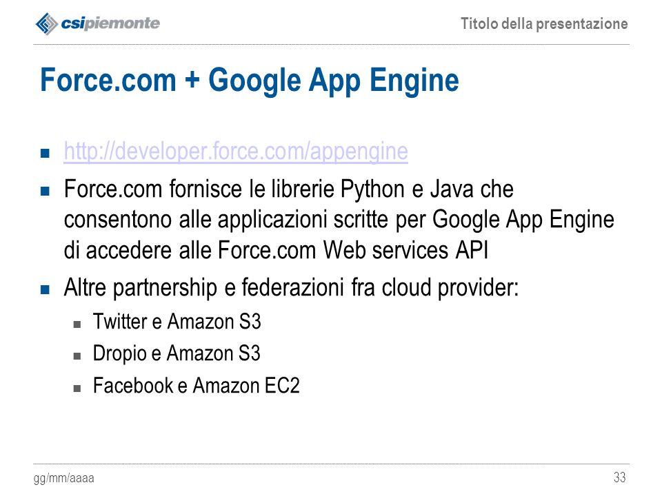 Force.com + Google App Engine