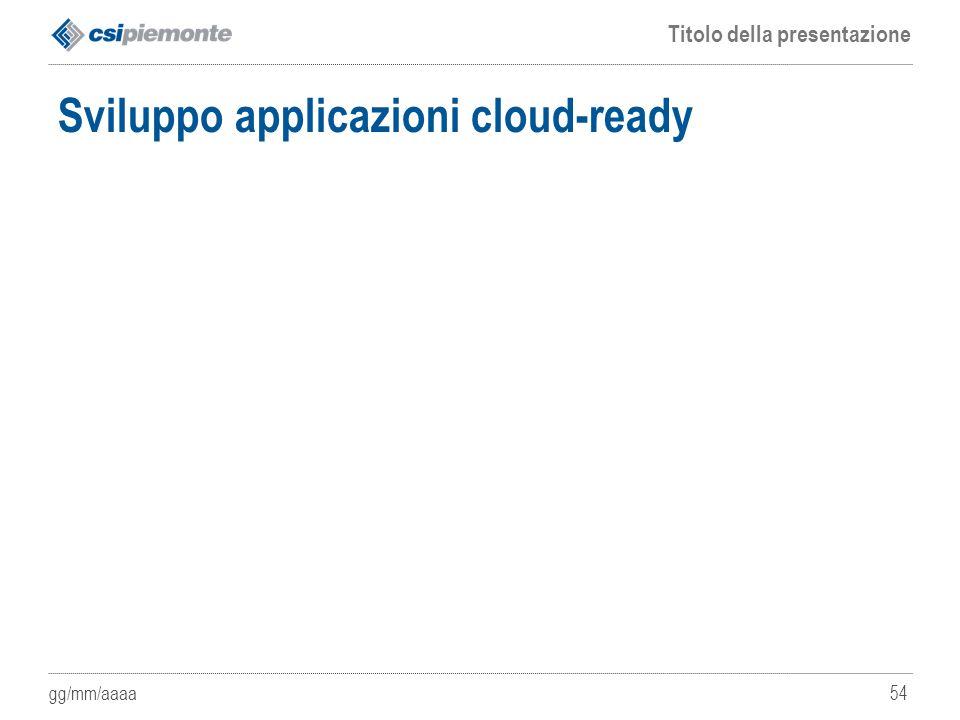 Sviluppo applicazioni cloud-ready