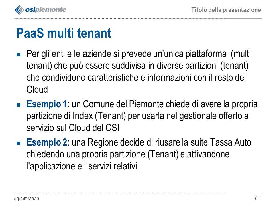 PaaS multi tenant