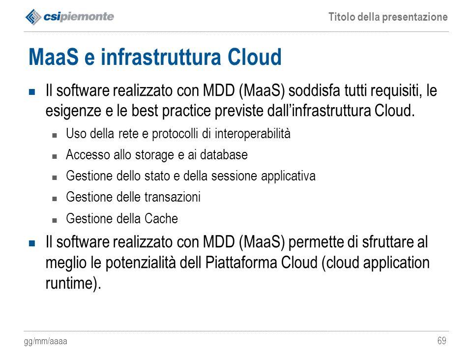 MaaS e infrastruttura Cloud