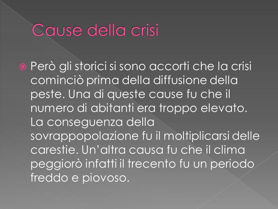 Cause della crisi