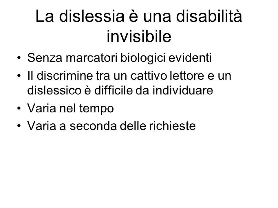 La dislessia è una disabilità invisibile