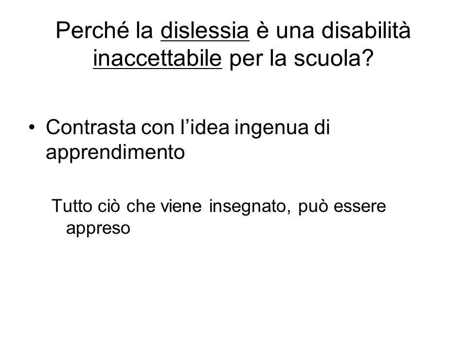 Perché la dislessia è una disabilità inaccettabile per la scuola
