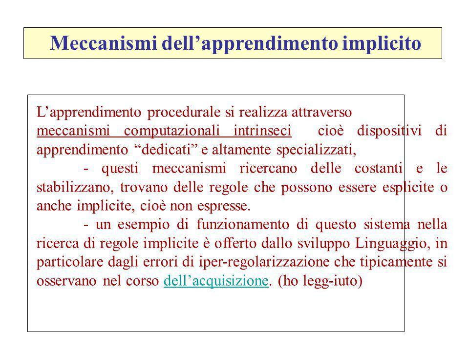 Meccanismi dell'apprendimento implicito