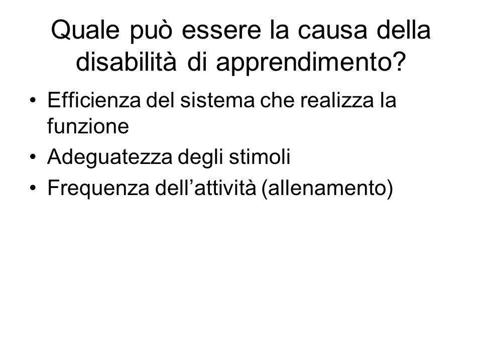Quale può essere la causa della disabilità di apprendimento