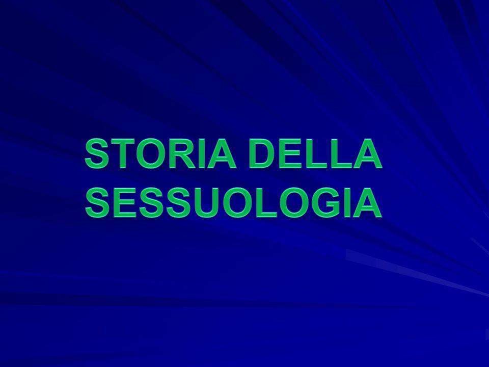 STORIA DELLA SESSUOLOGIA