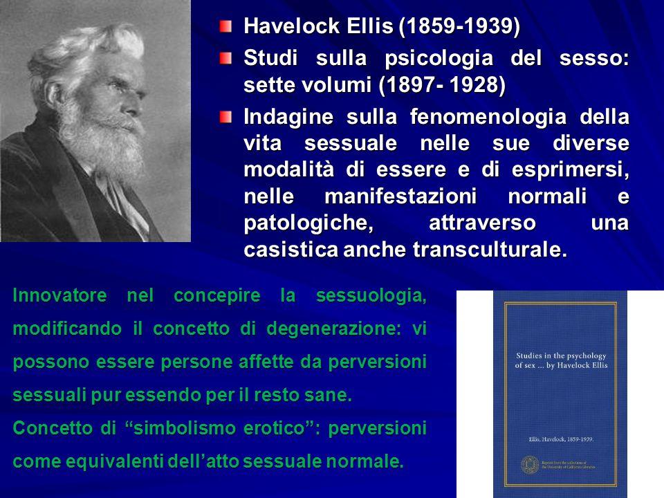Studi sulla psicologia del sesso: sette volumi (1897- 1928)