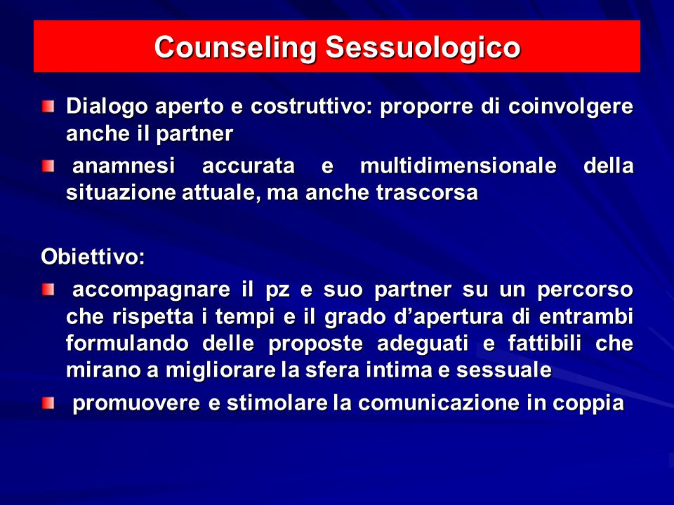 Counseling Sessuologico