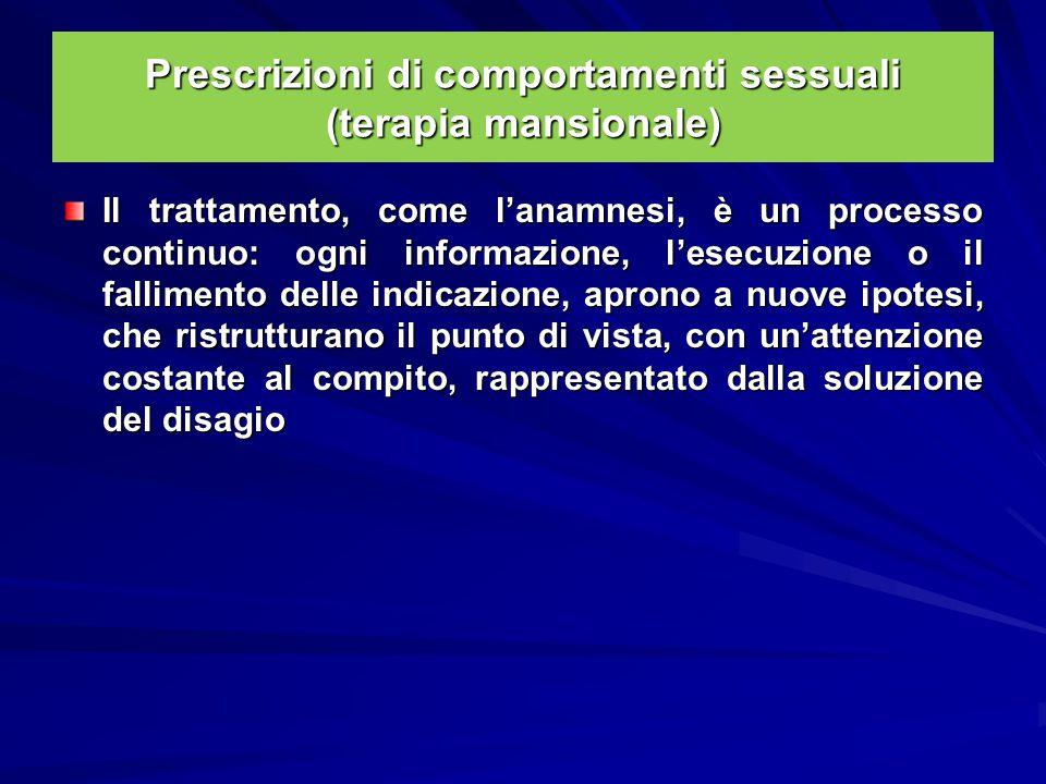 Prescrizioni di comportamenti sessuali (terapia mansionale)