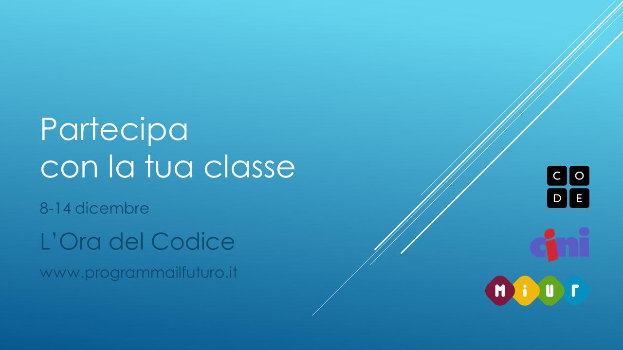 Partecipa con la tua classe