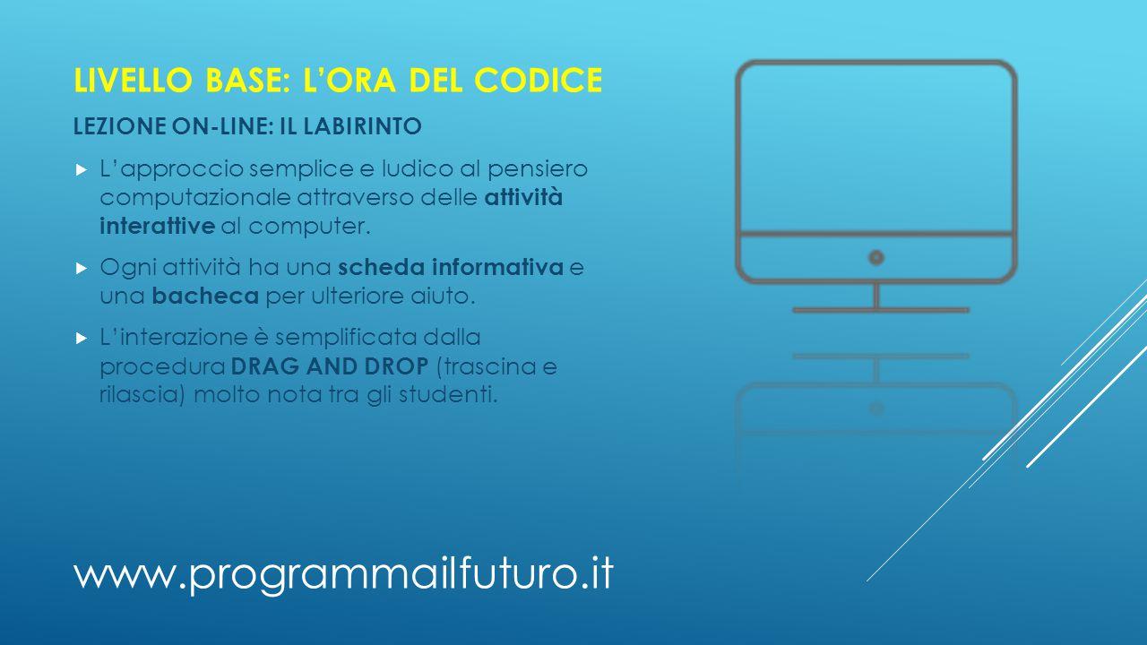 www.programmailfuturo.it LIVELLO BASE: L'ORA DEL CODICE