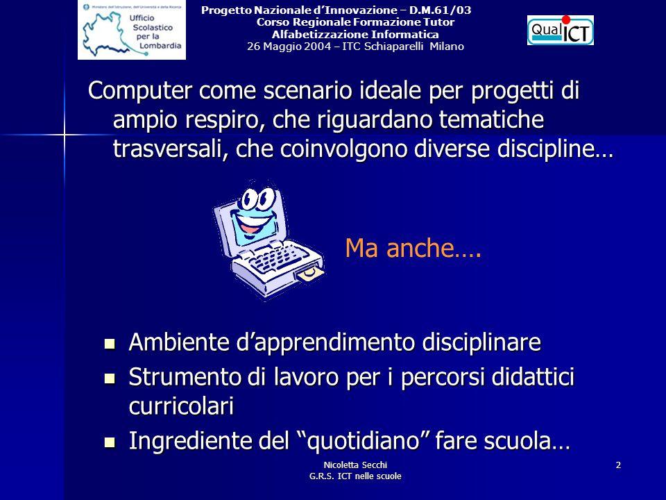Nicoletta Secchi G.R.S. ICT nelle scuole
