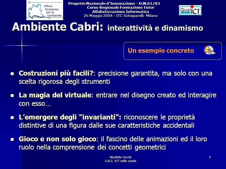 Ambiente Cabri: interattività e dinamismo