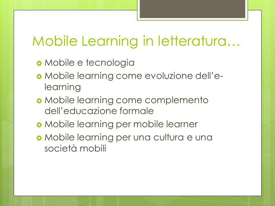 Mobile Learning in letteratura…