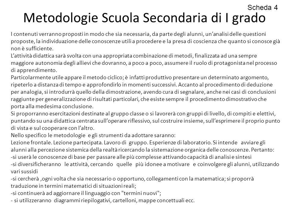 Metodologie Scuola Secondaria di I grado