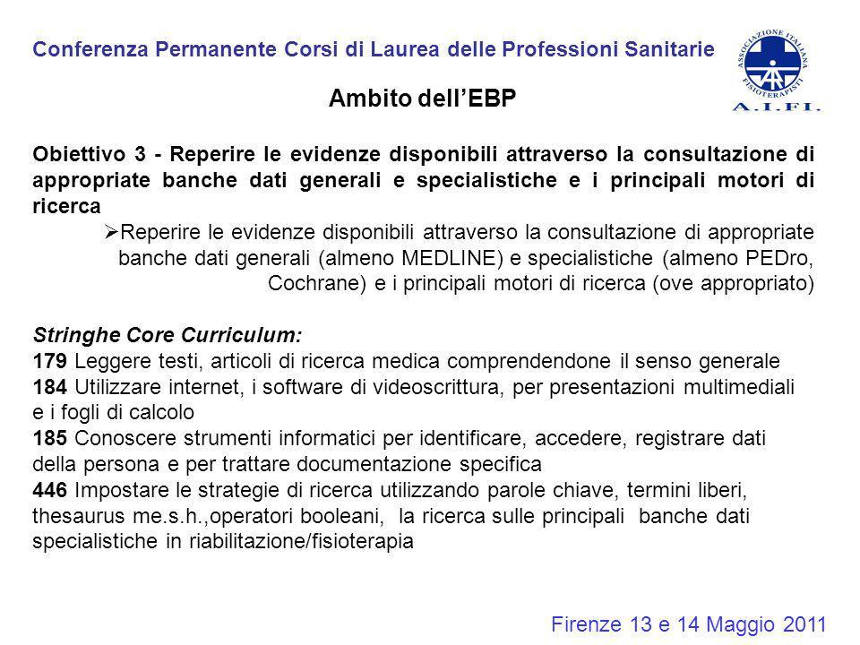 Conferenza Permanente Corsi di Laurea delle Professioni Sanitarie