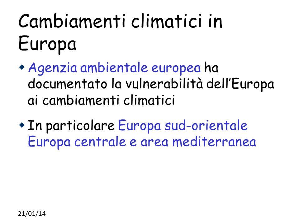 Cambiamenti climatici in Europa
