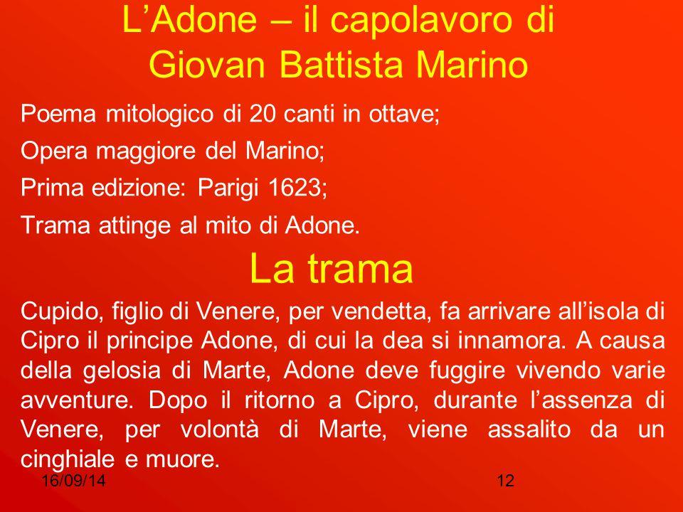 L'Adone – il capolavoro di Giovan Battista Marino