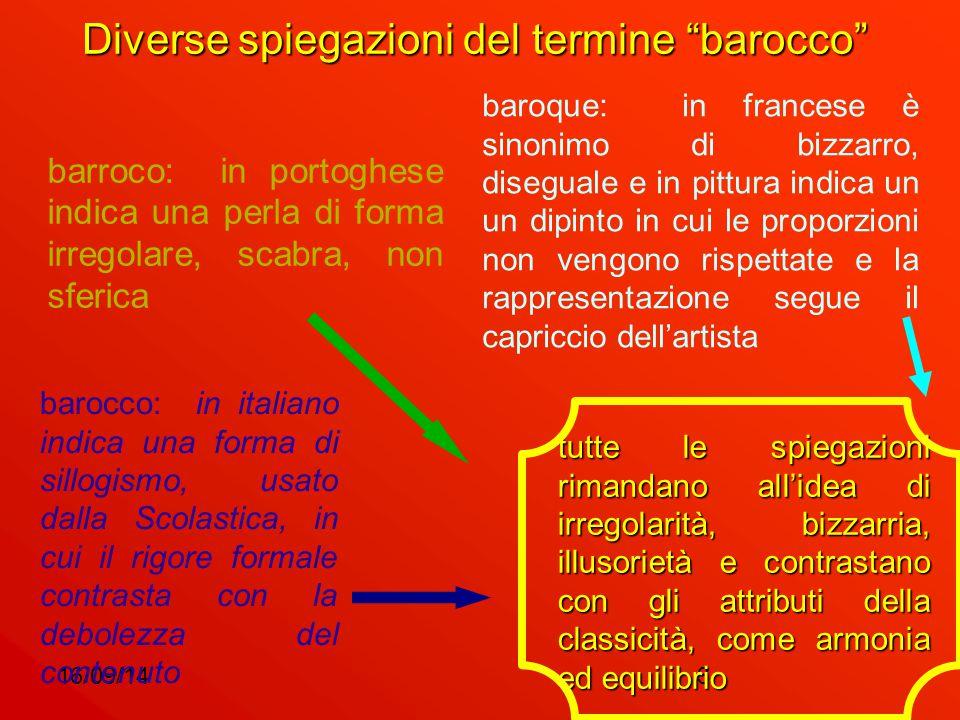 Diverse spiegazioni del termine barocco