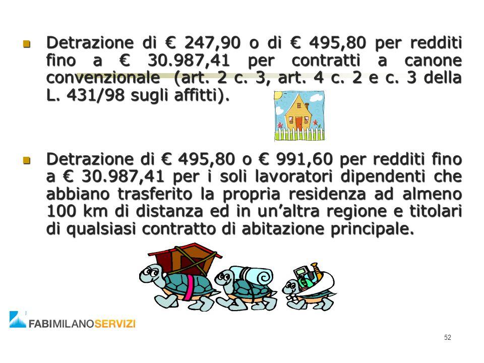 Detrazione di € 247,90 o di € 495,80 per redditi fino a € 30