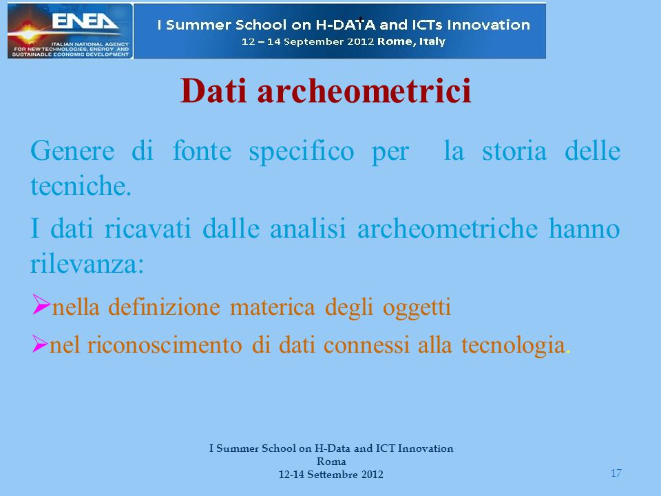 I Summer School on H-Data and ICT Innovation Roma