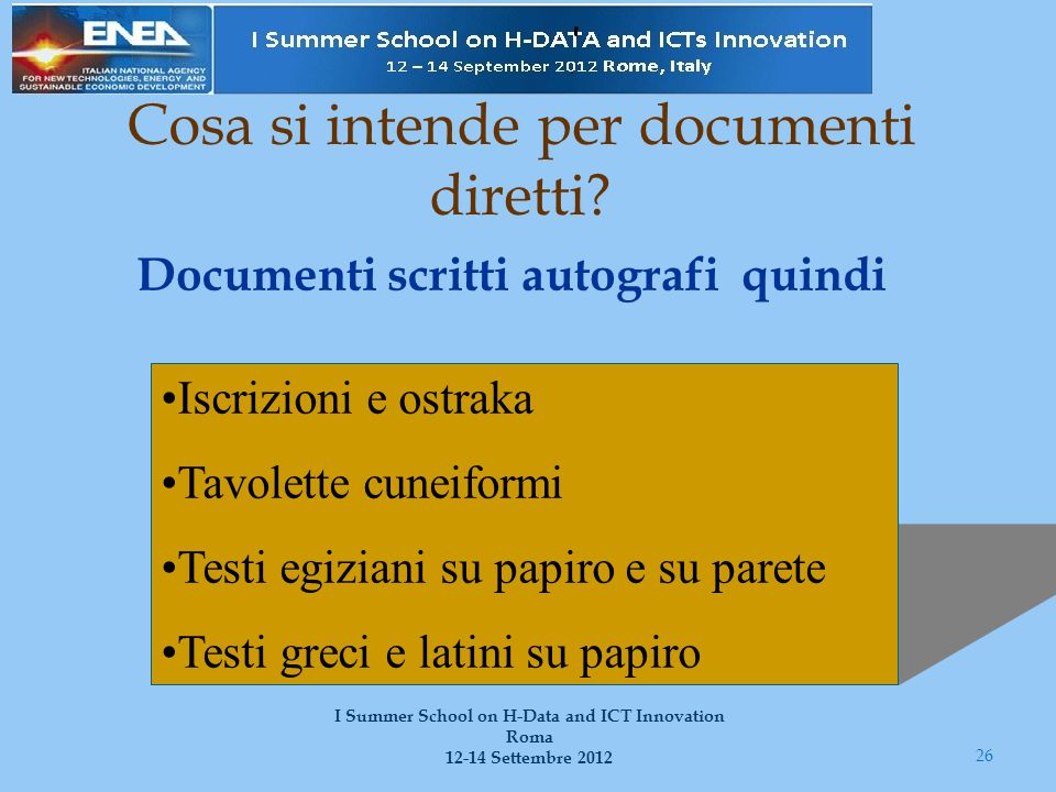 Cosa si intende per documenti diretti