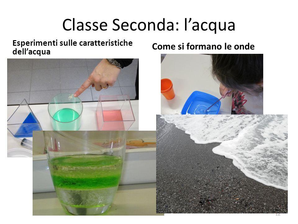 Classe Seconda: l'acqua