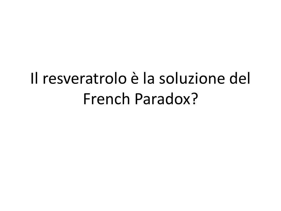 Il resveratrolo è la soluzione del French Paradox