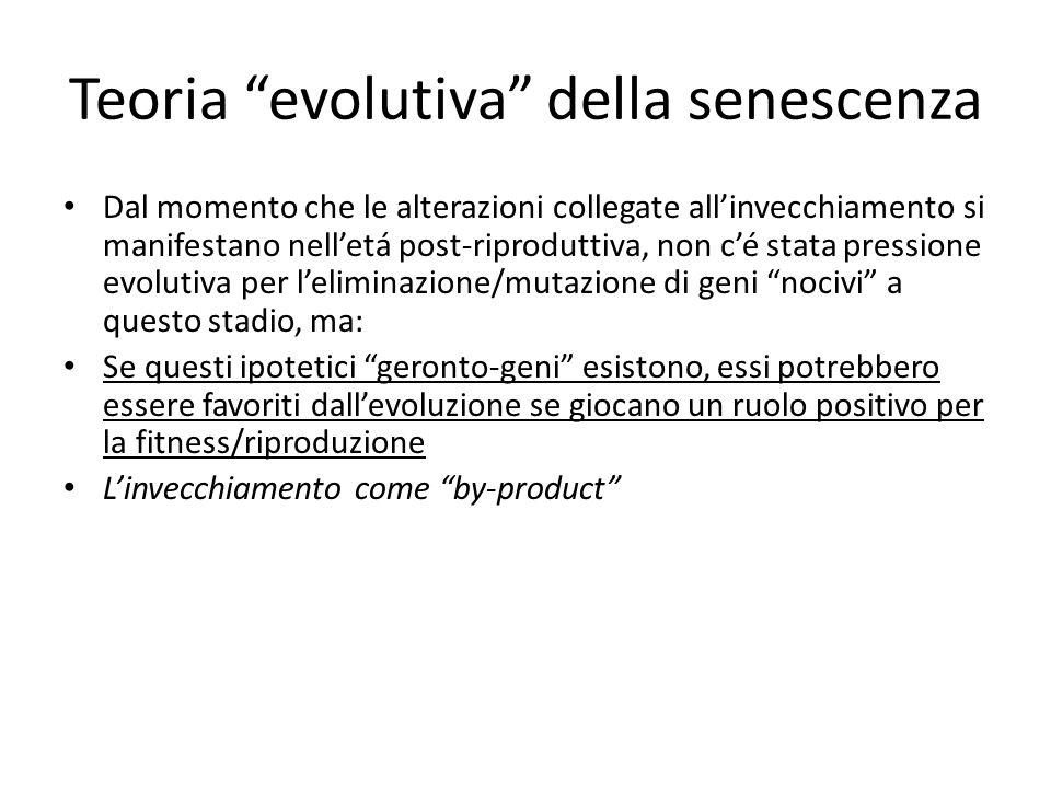 Teoria evolutiva della senescenza