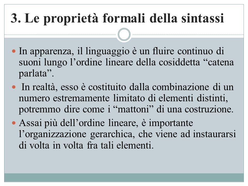 3. Le proprietà formali della sintassi