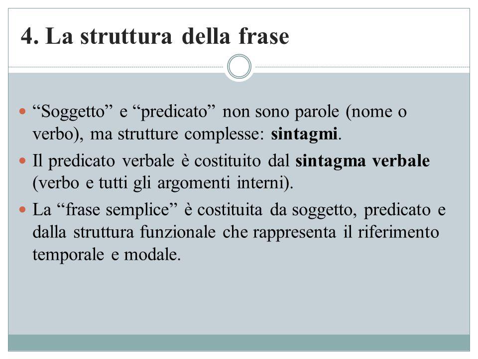 4. La struttura della frase