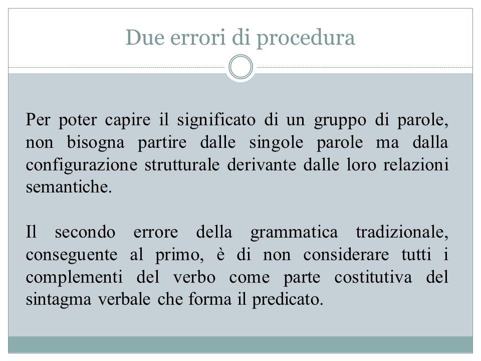 Due errori di procedura