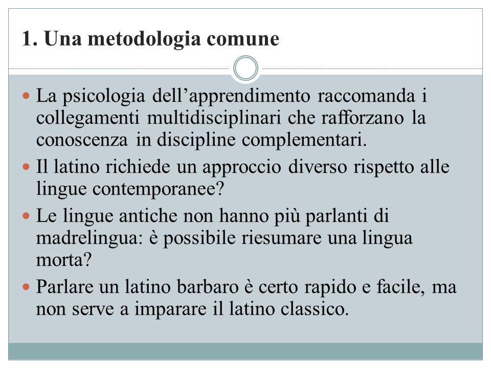 1. Una metodologia comune