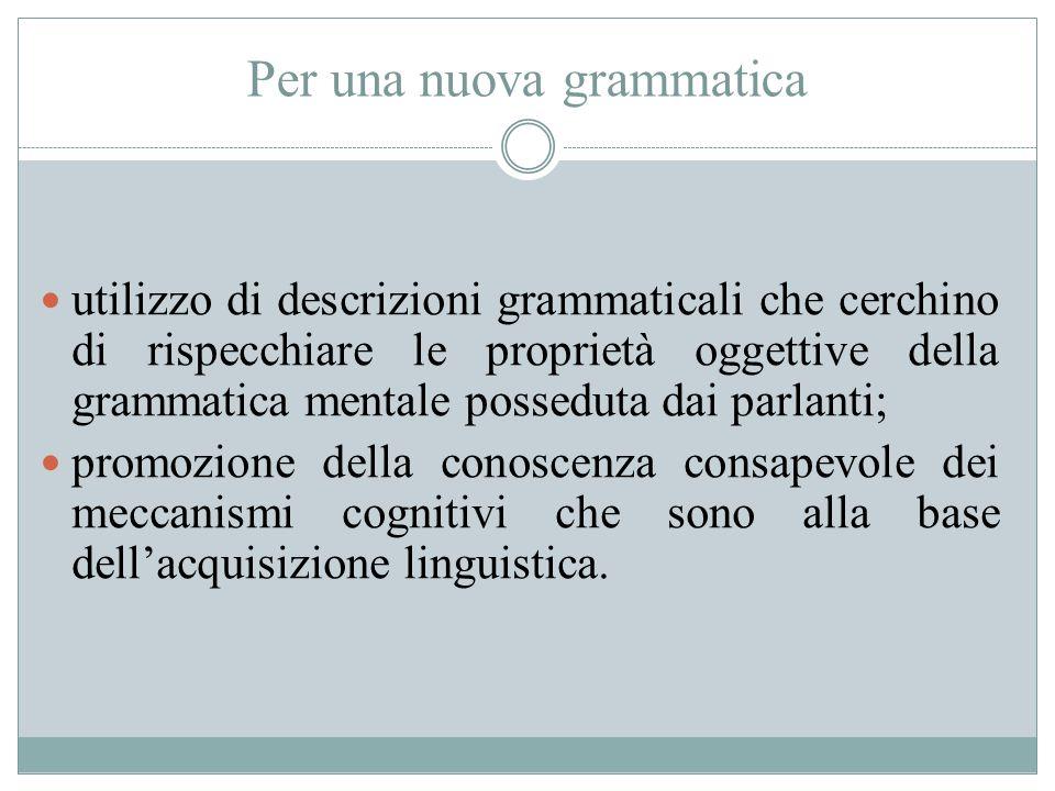 Per una nuova grammatica