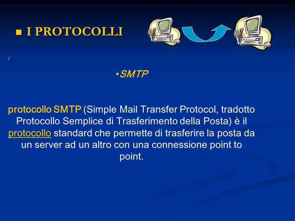 I PROTOCOLLI : SMTP.
